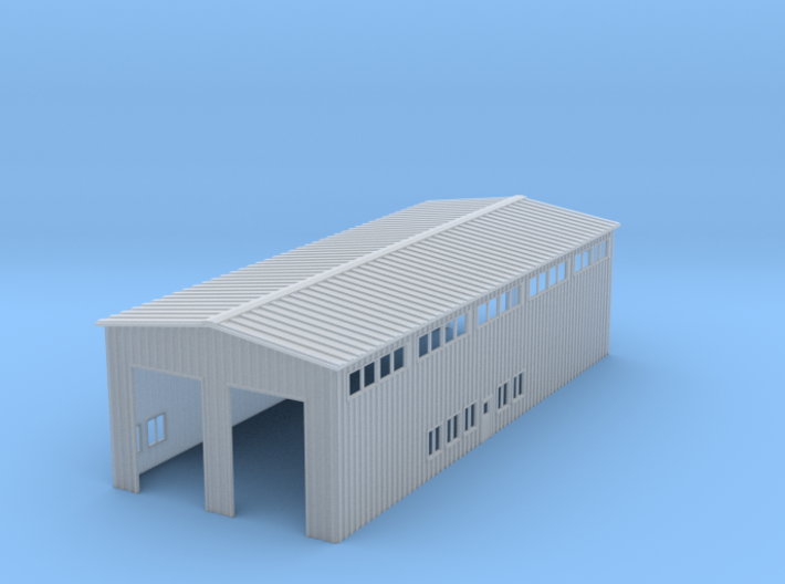 Z Scale Locomotive Shed Without Doors/Roof Details 3d printed