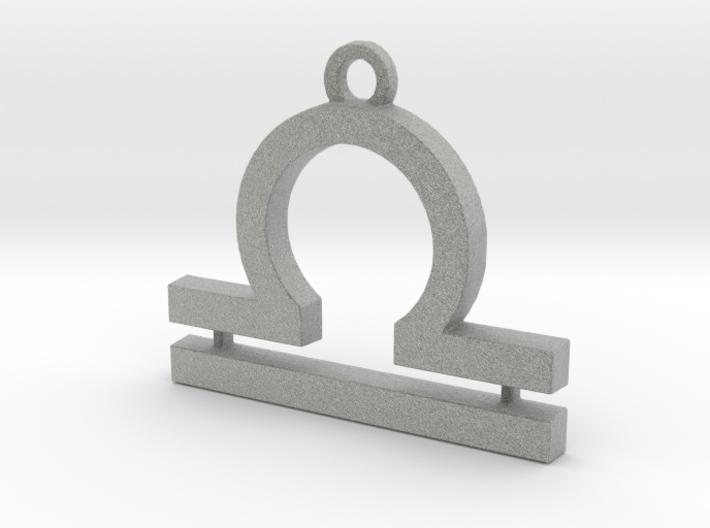 Zodiac Sign Libra Symbol Pendant (ver.2) 3d printed