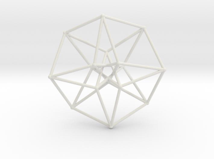 Sacred Geometry: Toroidal Hypercube 38mmx1mm 3d printed
