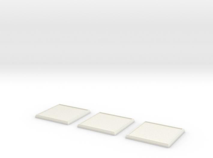 Square Model Base 40mm X3 3d printed