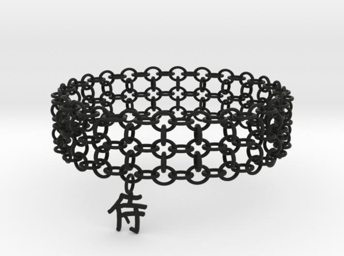 3in Samurai Kanji Bracelet 3d printed
