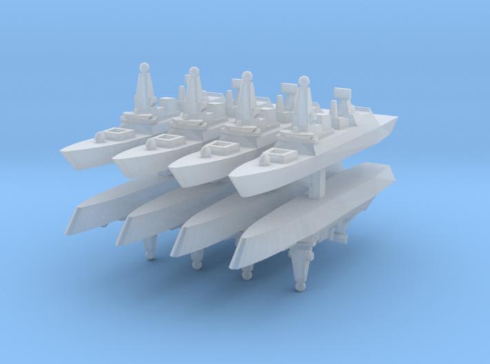 UK Type 45 1:6000 x8 3d printed