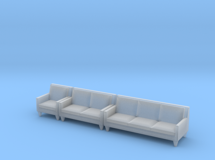 1:48 Contemporary Living Room Set 3d printed