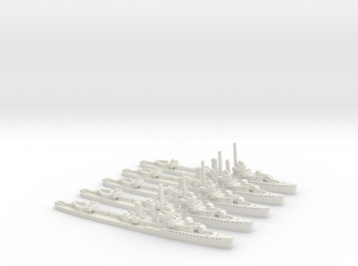 USS Monaghan (Farragut class) 1:1800 x5 3d printed