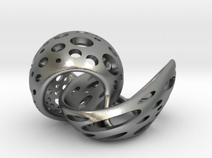 Shell pendant 3d printed
