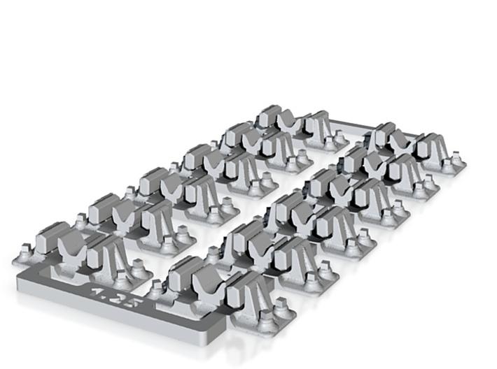 Check Rail Chairs 1.25mm 3d printed