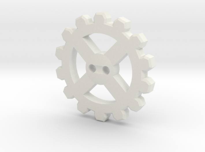 Cogwheel Button 02 3d printed