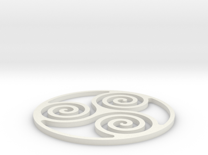 Triskelion Coaster 3 3d printed