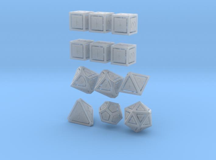 Floating Face full set (1.5mm edge) 3d printed