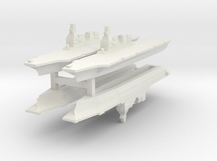 JMSDF Hyuga 1/6000 x4 (WSF) 3d printed