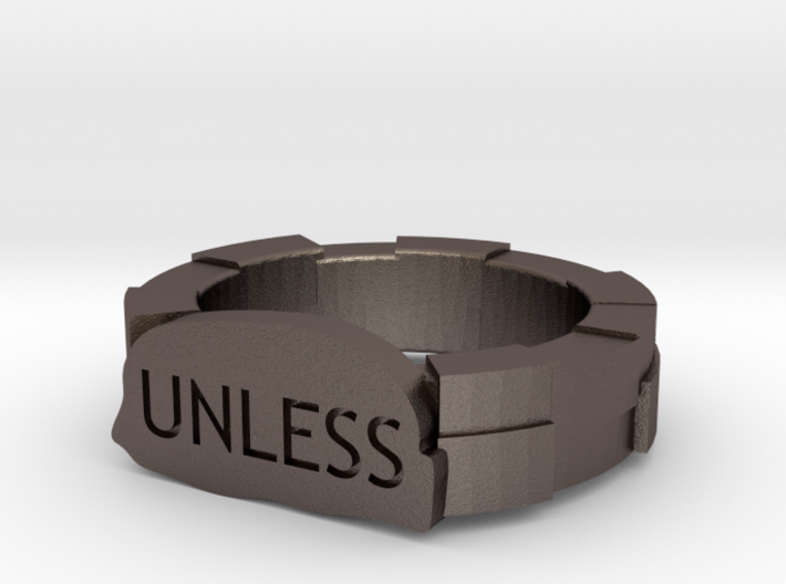 UNLESS Lorax ring 3d printed