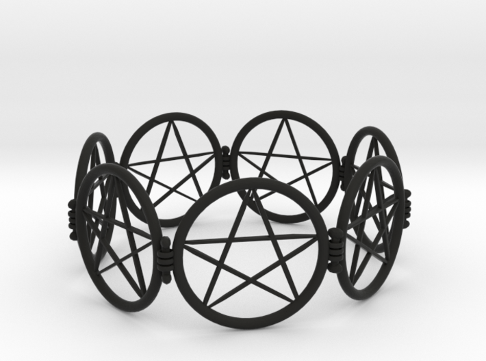 2.9in Pentacle Bracelet 3d printed
