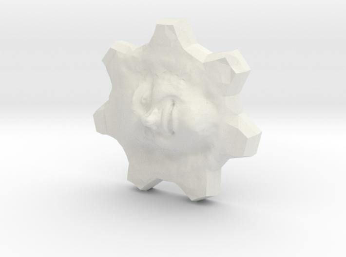 Todd Blatt 3d gear face from SIGGRAPH 3d printed
