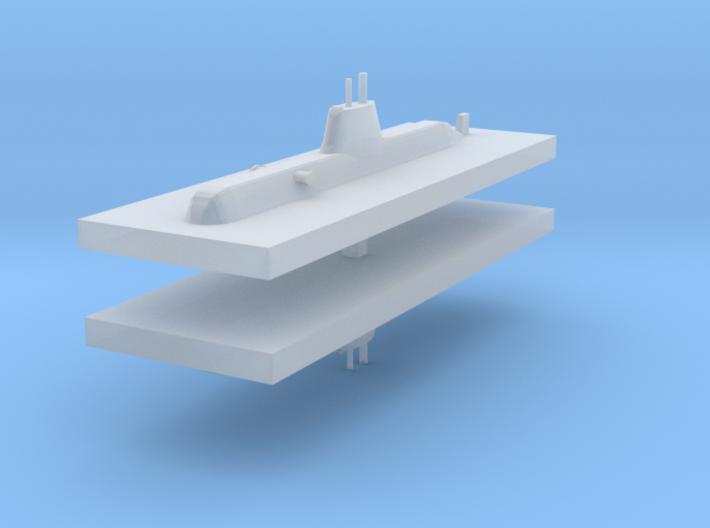 HDW 209PN Submarine 1:2400 x2 3d printed