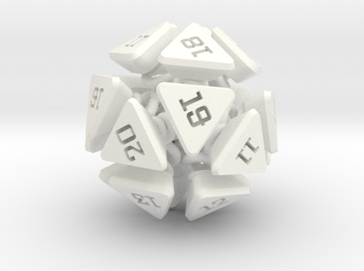 New Class of Dice - Spring-loaded Icodie 3d printed