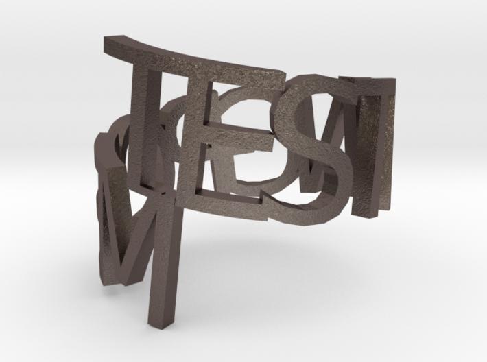 Metal ringpoem 3d printed