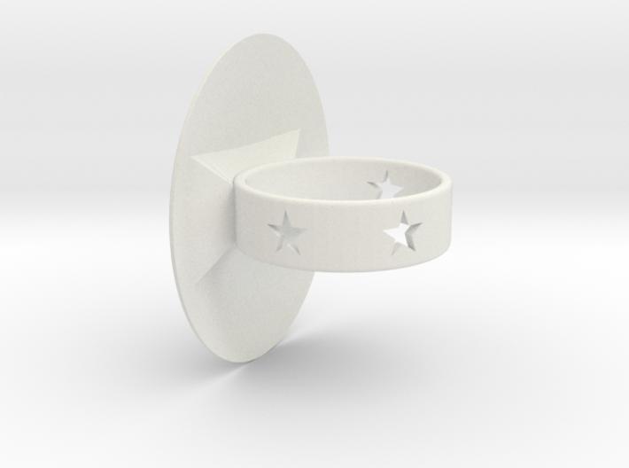 Shield Ring 3d printed