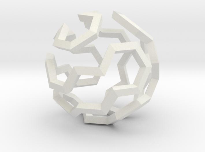 Hamilton Cycle on Soccer Ball (Medium) 3d printed