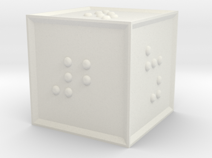 Braille D6 3d printed