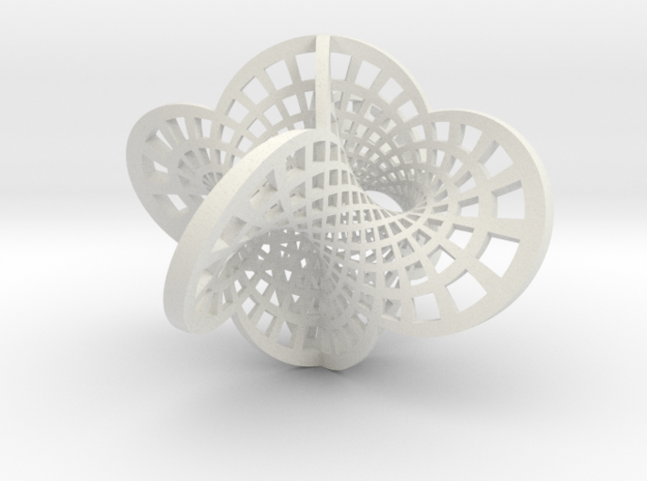 Round Klein Bottle 3d printed