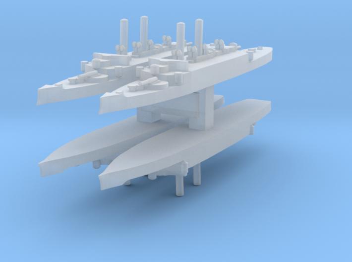 USS Atlanta (1884) 1:6000 x4 3d printed