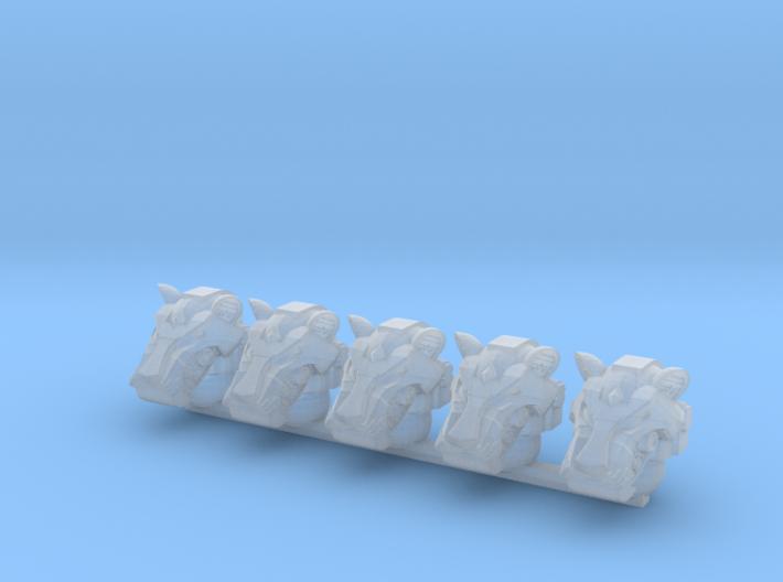 Tiger Helms (x5) 3d printed