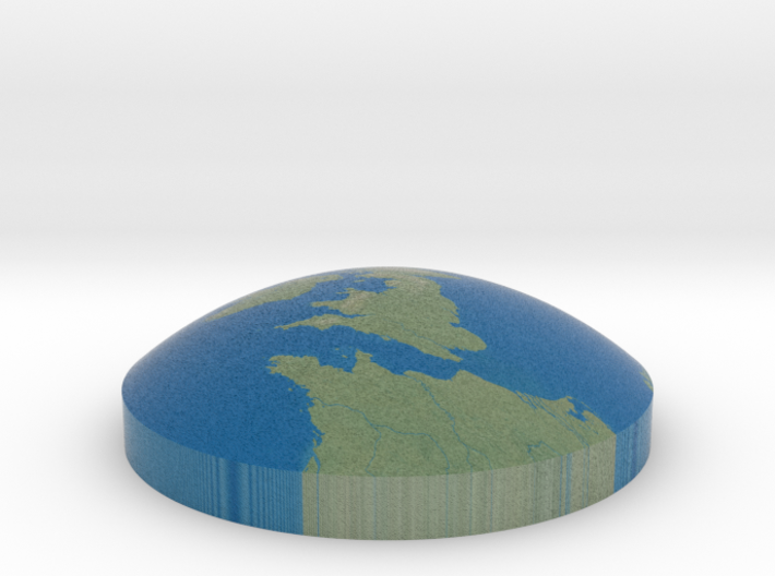 Omni globe United Kingdom 3d printed