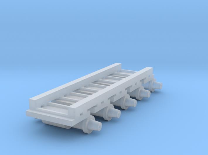Air Brake (x5) for HOn3/30 Passenger Cars 3d printed