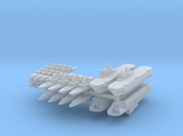 French Fleet 1 1:6000 (20 Ships) 3d printed