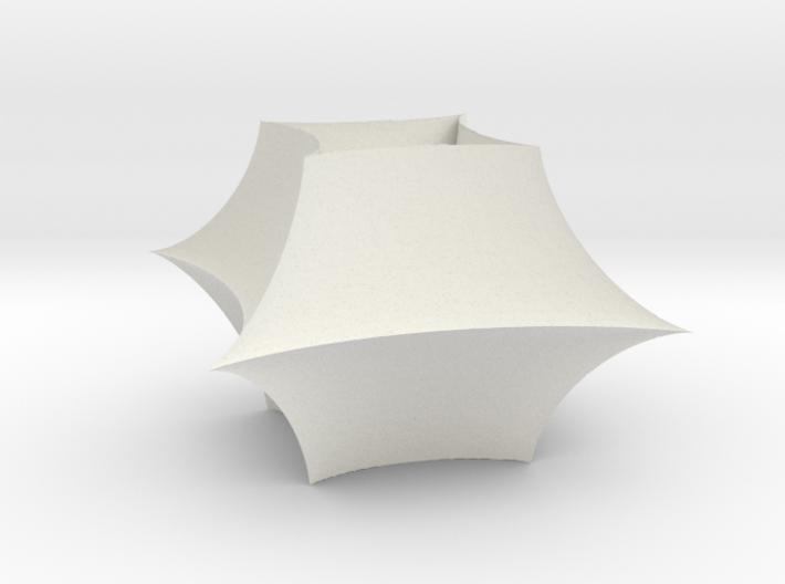 Asteroid torus inner radius one 3d printed