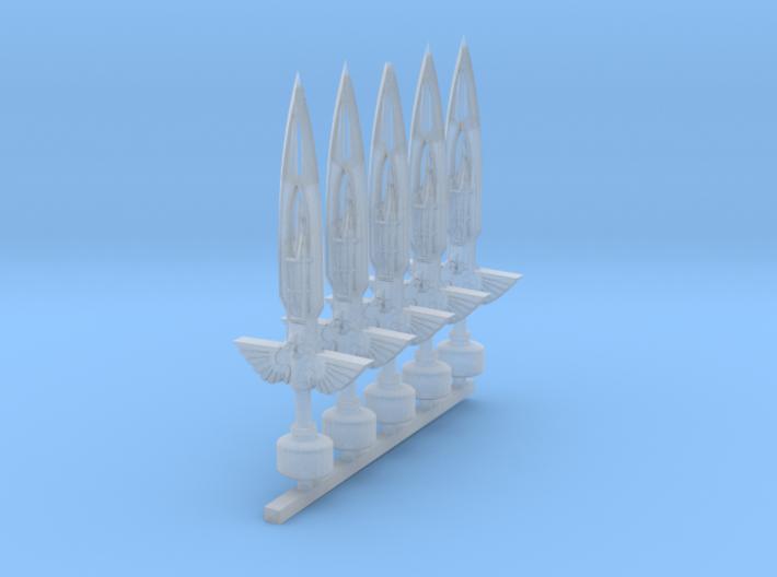 Mk1 - Techno-Flame Sword Mk2 (x5) 3d printed