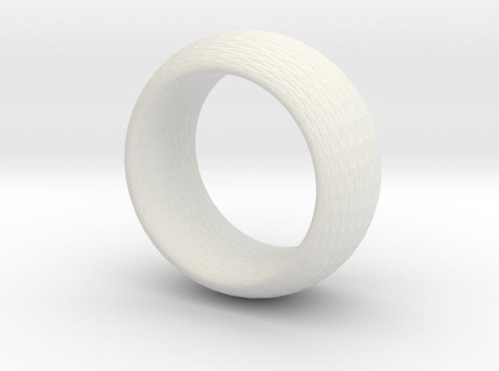 sinoid ring hexagon textured 3d printed