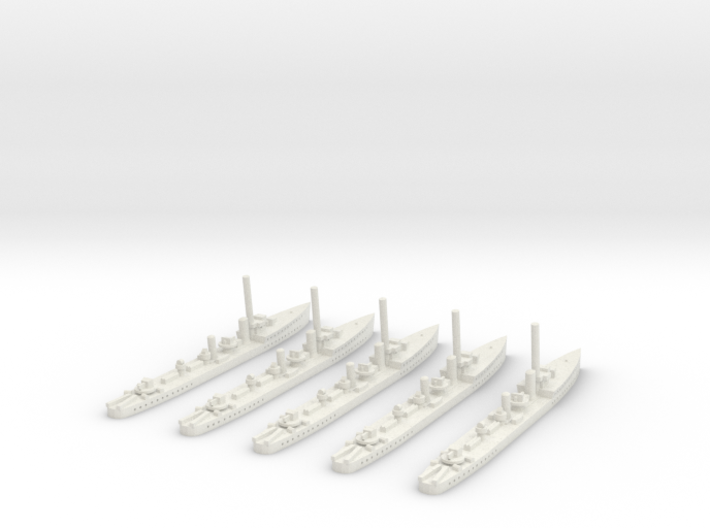 HMS Thanet (Admiralty S class) 1/1800 x5 3d printed