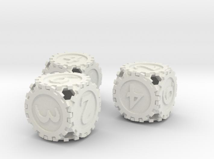 GearpunkDice3D6Set 3d printed