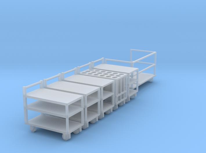 Rollwagen Set 3d printed
