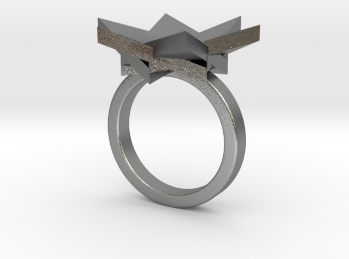 Six Points Flower Ring S 3d printed