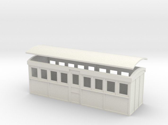 HOn30 20 foot Bogie Tramway Carriage (B) 3d printed