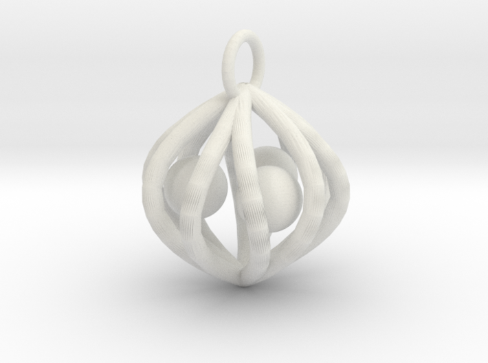 ballcagecharm 3d printed