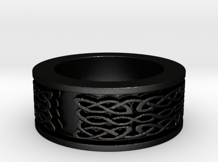 Celtic knot ring Ring Size 8 3d printed