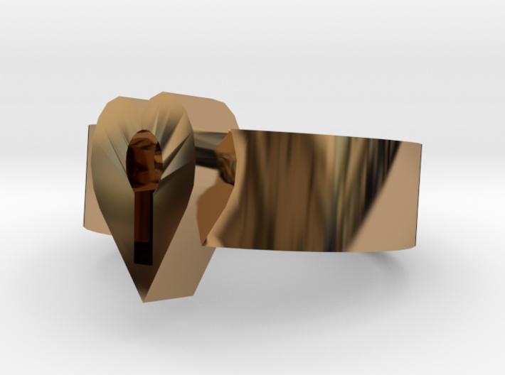 Lock Heart ring more printable 3d printed