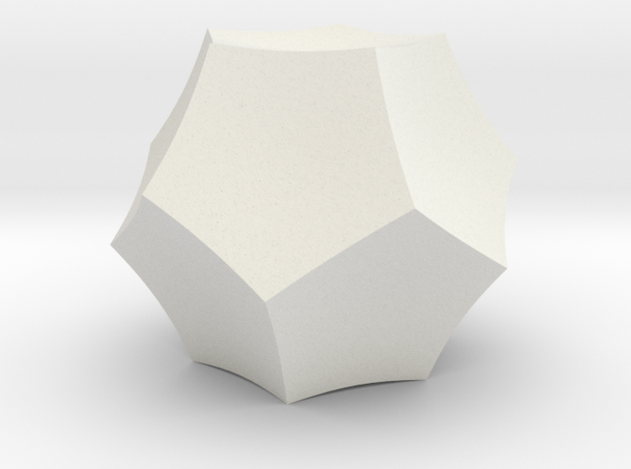 Curved Dodecahedron - Small 3d printed