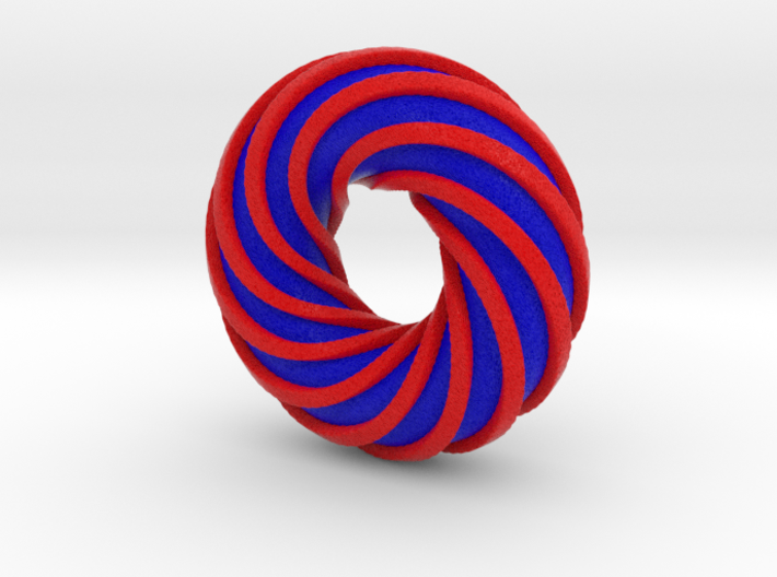Colorful Torus with a Spiral Ring 3d printed