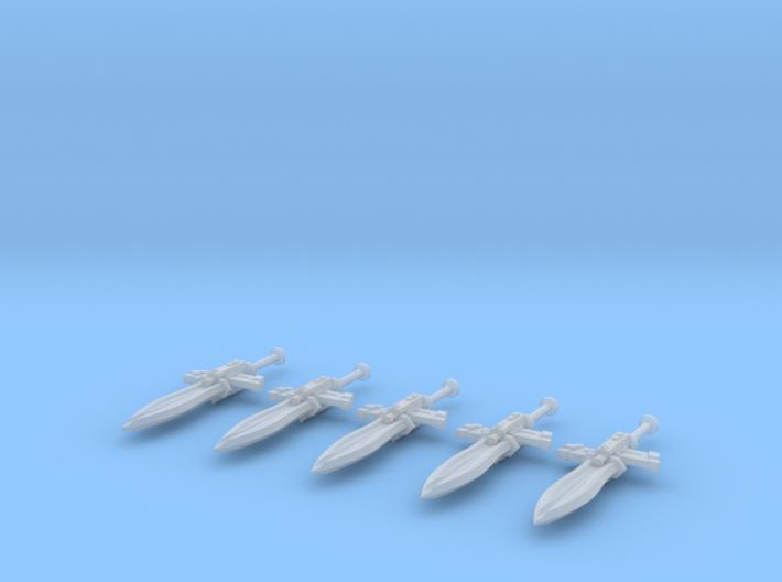Techno-Gladius (x5) 3d printed