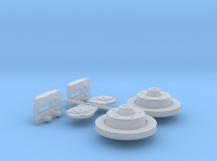 1/12 Generic Rear Disk Brake Kit 3d printed