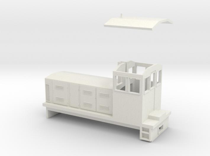 "HOn30 Endcab Locomotive (""Eva"") 3d printed"