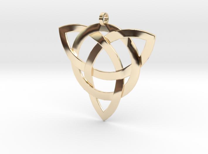 Large Celtic Knot Pendant (Inverted Triquetra) 3d printed