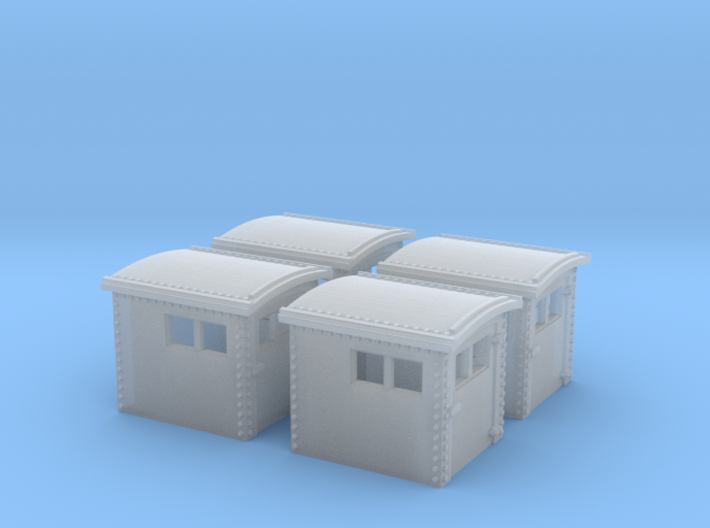 4x N&W Style Dog House N Scale 1:160 3d printed