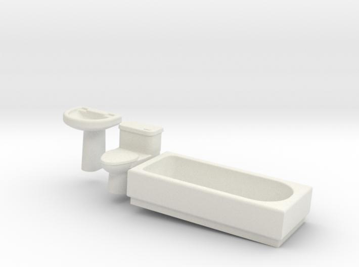 Bathroom Suite 3d printed