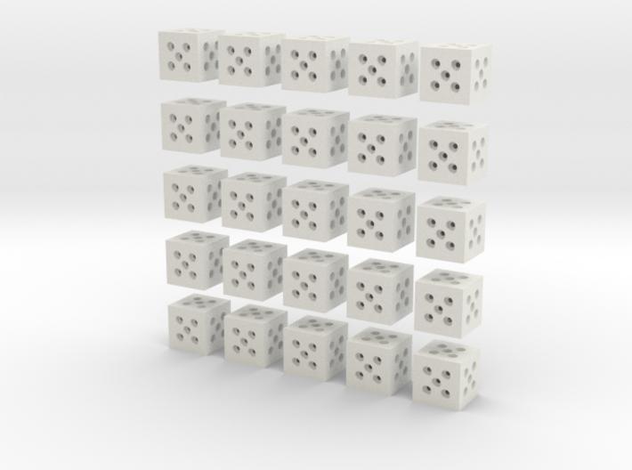 Building Block 1x1 (x25) 3d printed