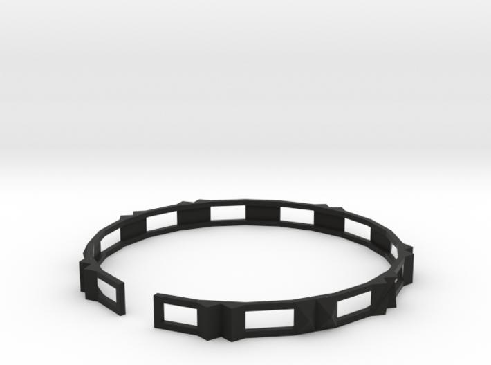 Disco - Small plastic bracelet. 3d printed
